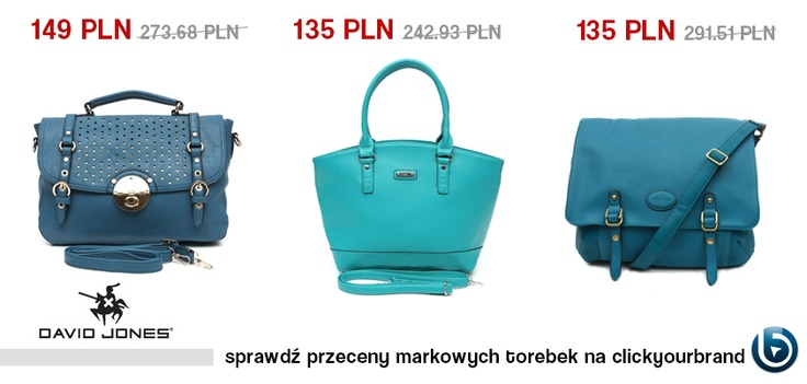 Niebieski będzie bardzo modnym kolorem w nadchodzącym sezonie!   Może powinnyśmy zacząć od torebki?