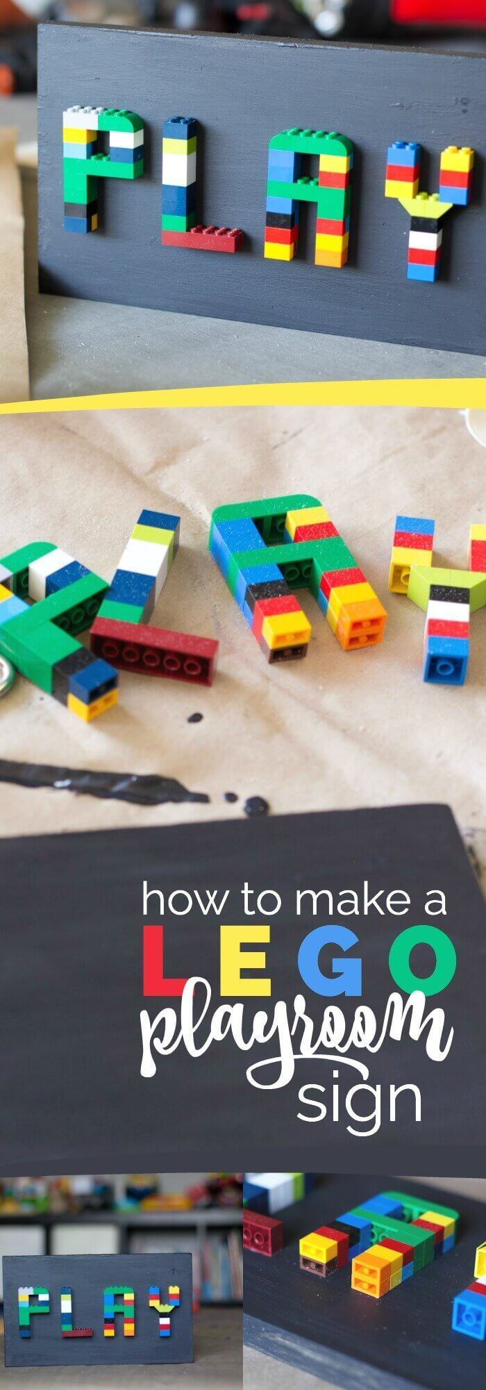 How to Make a DIY LEGO Sign #rapidfuse #woodworking #ad