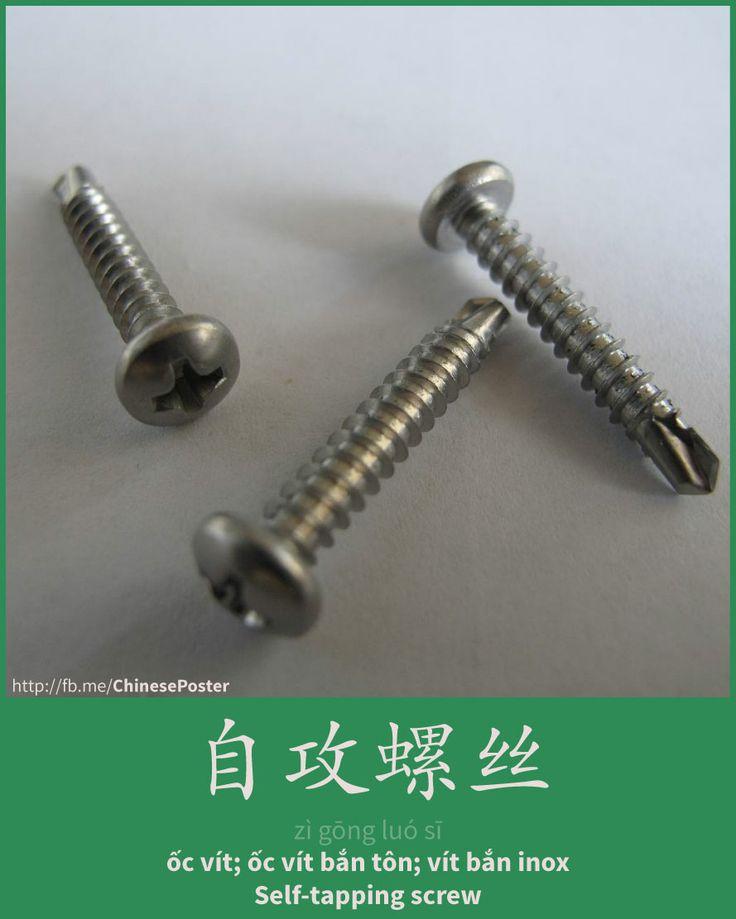 自攻螺丝 - zì gōng luósī - ốc vít - Self-tapping screw