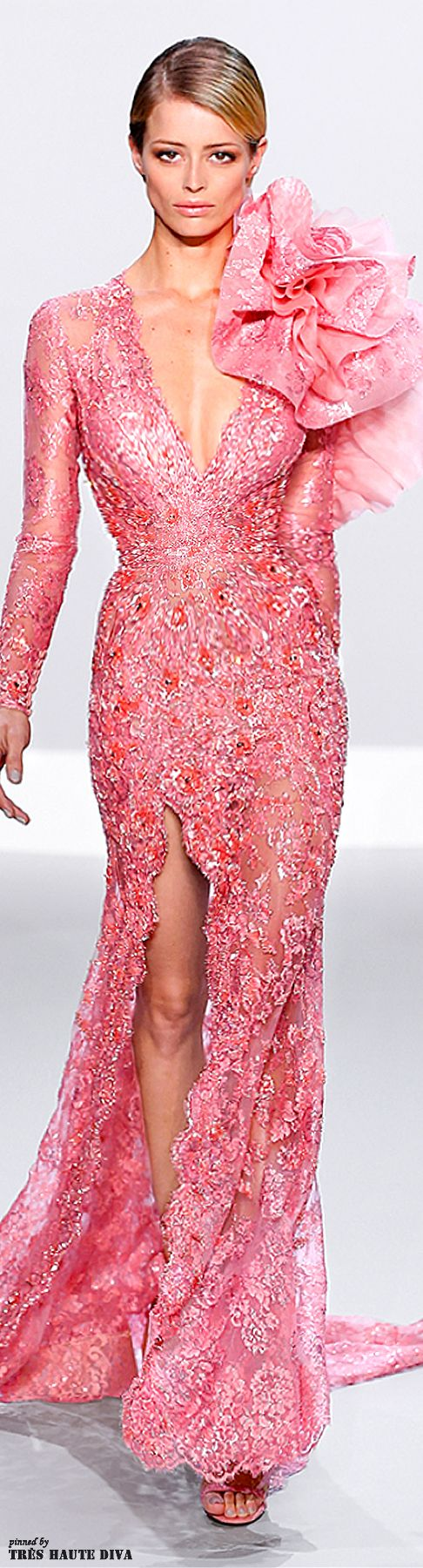 Ralph & Russo Spring/Summer 2014- Gorgeous lace in this color and hand embroidery