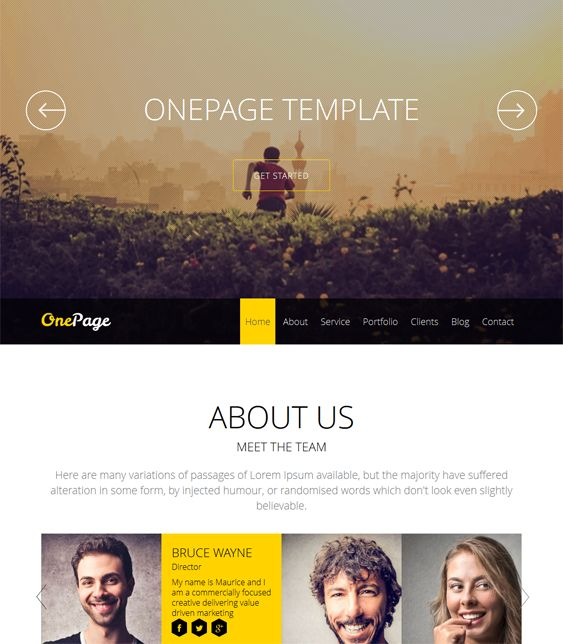 This one page Joomla theme comes with a responsive layout, Twitter integration, a fullscreen slider, Font Awesome icons, multiple preset color schemes, a lightweight framework, and more.