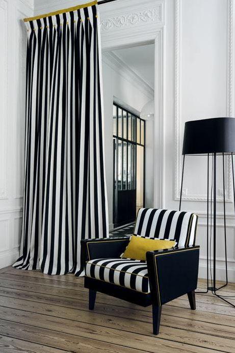 1000 id es sur le th me rideaux rayures sur pinterest rideaux blancs noirs rideaux et. Black Bedroom Furniture Sets. Home Design Ideas