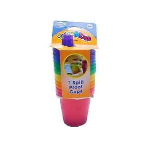 Price: $3.99 - The First Years 7 Count Take  Toss Spill Proof Cups, 7 Ounce - TO ORDER, CLICK ON PHOTO
