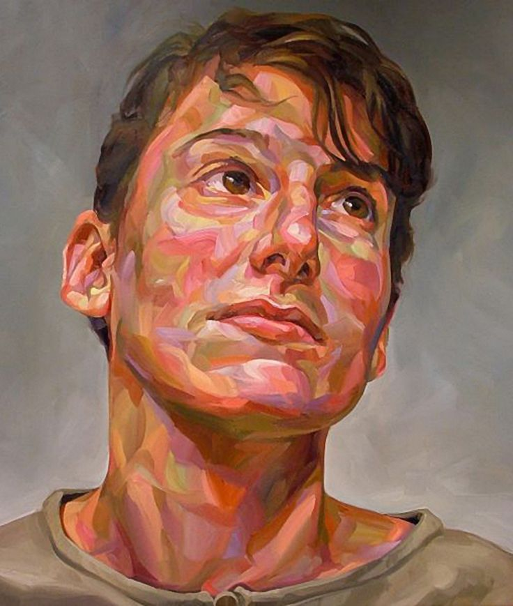 Artist: Paul Wright, oil on canvas {contemporary art male head man face portrait painting} paul-wright.com