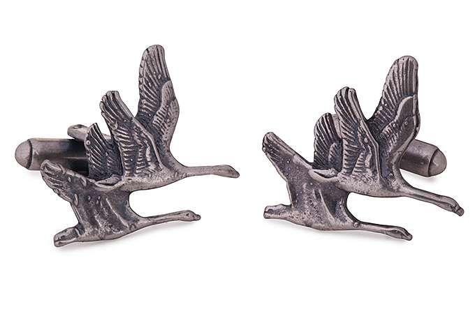 GEMELOS AVE DOBLE - Tienda de gemelos en rodio y plata para hombre. Gemelos divertidos y originales, clasicos y elegantes.