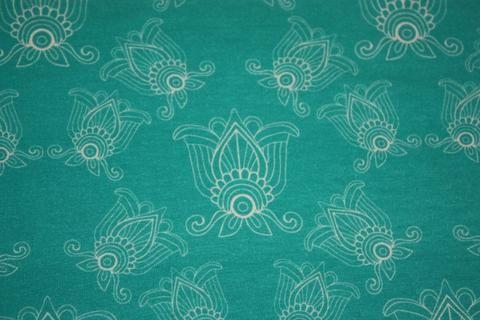 Lotus Flowers - Black Rabbit Fabric