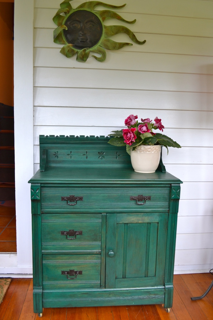 Antique Dry Sink....northern ivy minwax stain and valspar antique finish - Best 109 Antique Furniture Images On Pinterest Antique Furniture