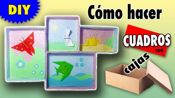 Cuadros decorativos con cajas manualidades de reciclaje - Manualidades con cuadros ...