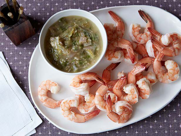 How to Navigate the Holiday Buffet: Food Network, Holiday, Tomatillo Horseradish Sauce, Sauces, Sauce Recipes, Seafood, Appetizers, Cocktails