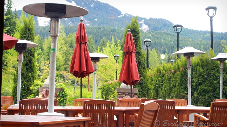 Just another day in May.   Mallard Lounge, Fairmont Chateau Whistler #whistlerunfiltered