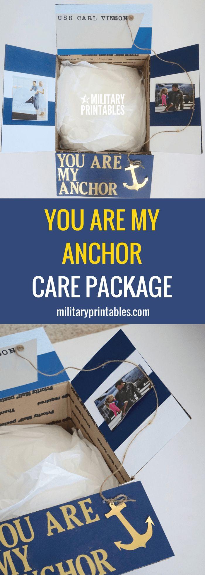 You Are My Anchor Care Package, nautical, sailor, navy, stripes, ship, ocean