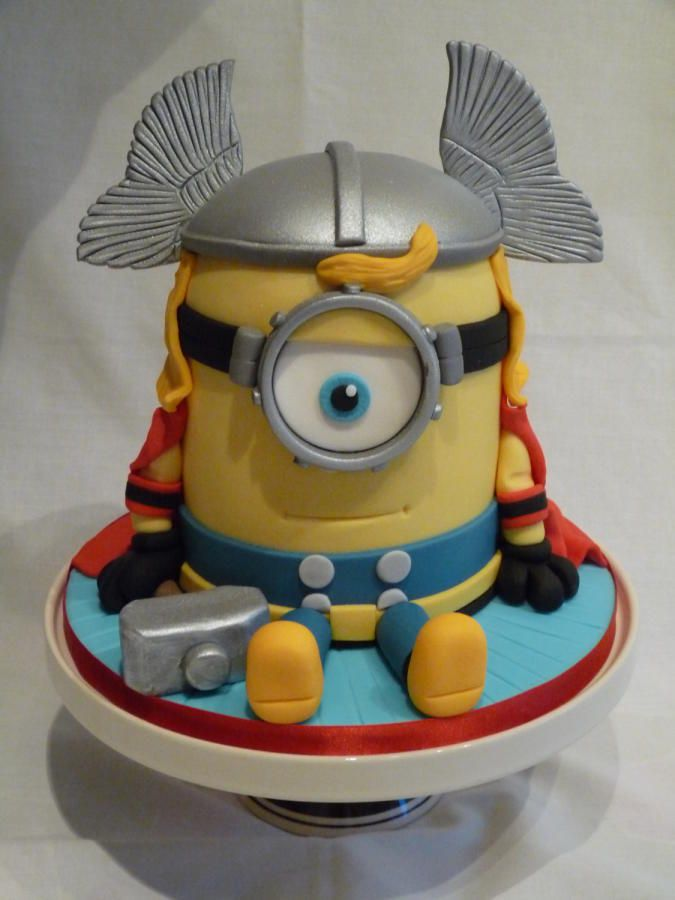 THOR MINION CAKE - Cake by Grace's Party Cakes #coupon code nicesup123 gets 25% off at  www.Provestra.com www.Skinception.com and www.leadingedgehealth.com