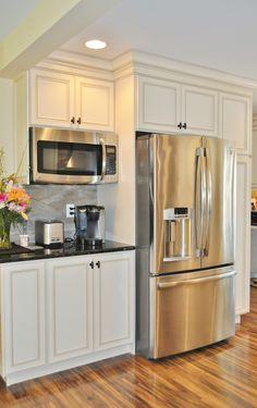 best 25 microwave shelf ideas on pinterest open kitchen shelving open shelf kitchen and. Black Bedroom Furniture Sets. Home Design Ideas