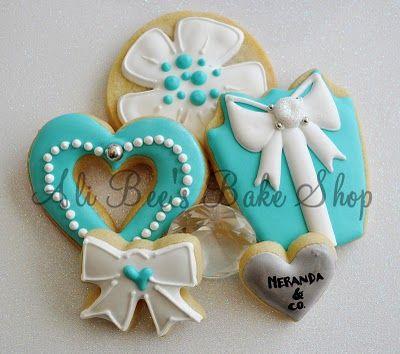 cookies: Tiffany Inspiration, Shower Cookies Gifts, Sugar Cookies, Bees Baking, Inspiration Cookies, Ali Bees, Decor Cookies, Baking Shops, Cookies Inspiration