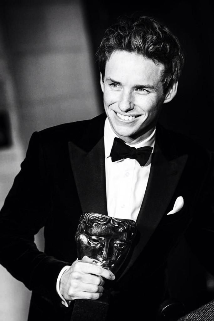 #EddieRedmayne.  BAFTAs 2015.