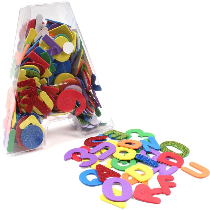 assorted foam letters and numbers sticker set hobbycraft