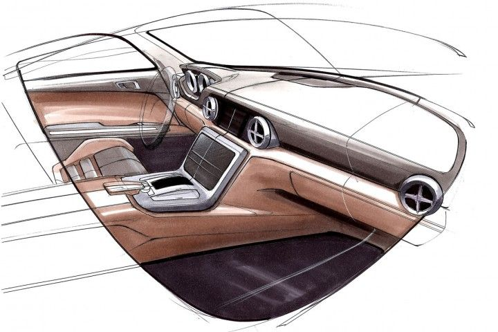 Mercedes Benz Slk Interior Design Sketch Sketch Pinterest