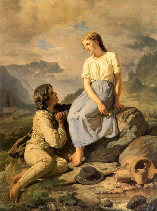 Coisas de Terê - Przysięga na szarotkę (Dzieci góralskie) - Gerson Wojciech - 1831/1901 - Polônia.