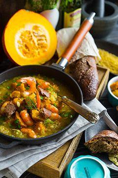 Тыквенный суп с бульоном и крупами - Andy Chef - блог о еде и путешествиях, пошаговые рецепты, интернет-магазин для кондитеров