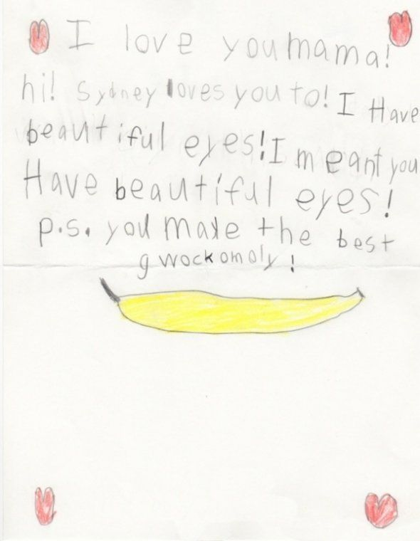 Mom, you make the best gwockomoly!Funny Kids Letters, Funny Note, 25 Funny, Kids Note, Holy Guacamole, Kids Humor Letters, Note Written, Children Express, Gwockomoli