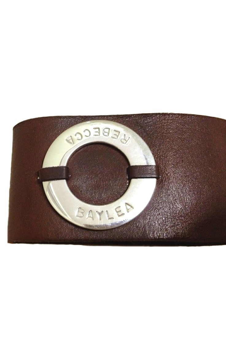 This funky leather cuff is the ultimate must have. The wide leather band coupled with the sterling silver STELLA pendant certainly makes the MAX cuff a standout.  Perfect for the girls but can also be worn by the guys too. We can hand stamp up to 28 characters around the sterling silver pendant.  The MAX cuff is 4.0cm wide. $240 http://www.koolamandesigns.com.au/shop/max-p-763.html