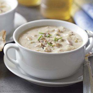 Clam chowder: Low Carb Recipe, England Clams, Clams Chowders Recipe, New England, Food, Crock Pot Soups, Clam Chowder, Crockpot Recipe, Soups Recipe