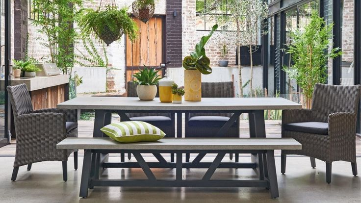 Tonic 6 Piece Outdoor Rectangular Dining Setting - Outdoor Dining - Outdoor Living - Furniture, Outdoor & BBQs | Harvey Norman Australia