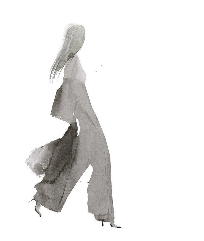 Aurore De La Morinerie - Encre I | Gallois Montbrun & Fabiani #illustration #fashion #mode