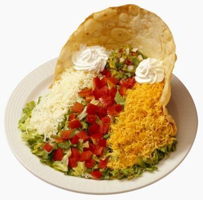 Baked taco salad bowls!