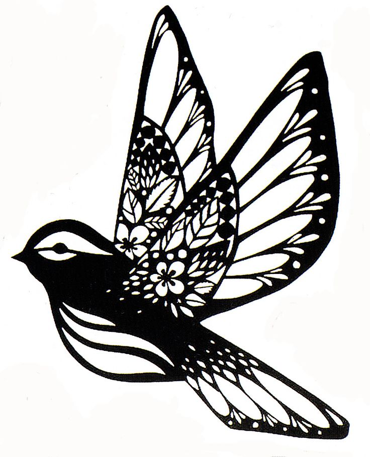 Sparrow paper cut fx paper cut stencil silhouette for Paper cut out art templates