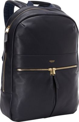 KNOMO London Beaux Laptop Backpack Navy - via eBags.com!