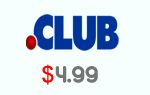 .CLUB Domain name $4.99