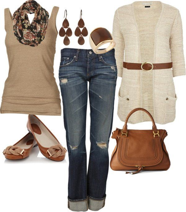 Loose the belt and make those some classic jeans or brown slacks and this would be exactly my style!