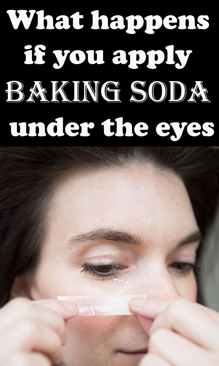 What happens if you apply baking soda under the eyes - 101Beauty.net