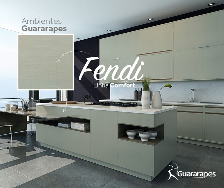 MDF Fendi   Cozinha Fendi   Linha Comfort    MDF Guararapes #MDF #decoraçãoMDF #decoração #DesignInteriores #padrõesMDF #homedecor #decoração #cozinha #peçasMDF