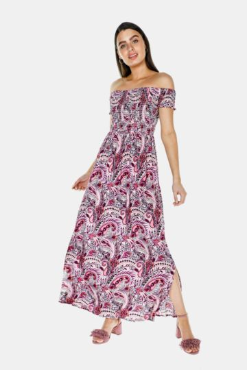 fea51633f5a Off The Shoulder Maxi Dress