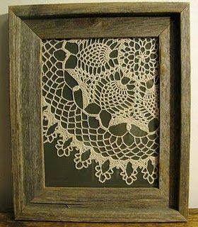 Such a lovely crochet doily craft idea