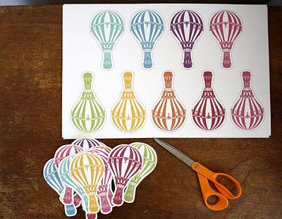 free printable hot air balloons