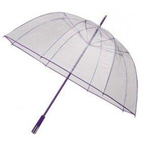 See-Through Deluxe Umbrella - Purple