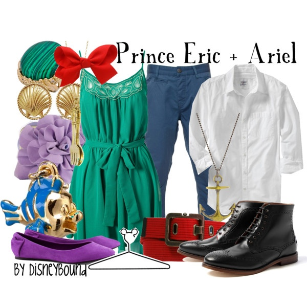 """Prince Eric + Ariel"" by lalakay on Polyvore #disney"