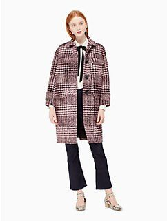plaid car coat by kate spade new york