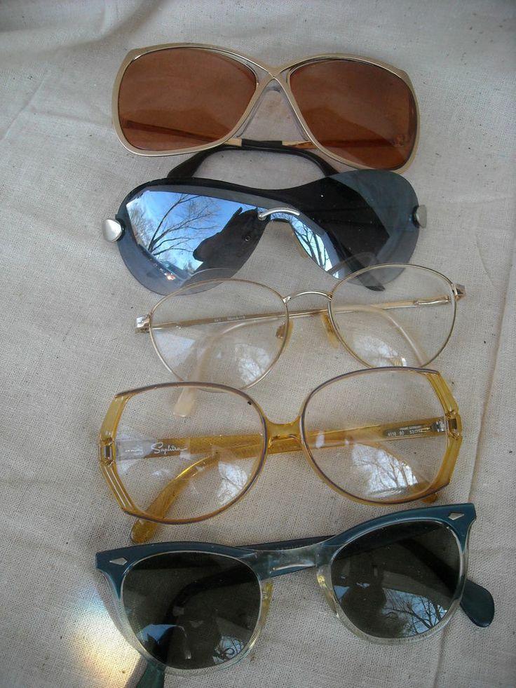 lot 5 Vintage  Sunglasses & Eyeglasses Escala Luxottica GEP Aviator Movie Star