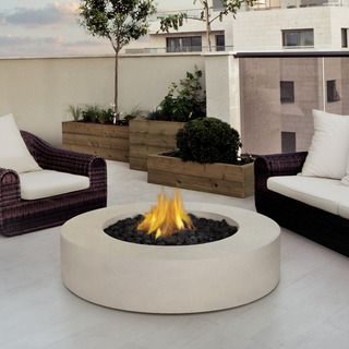 Shop for Real Flame Mezzo 42.25-inch Round Antique White Fire Table. Get free delivery at Overstock.com - Your Online Garden