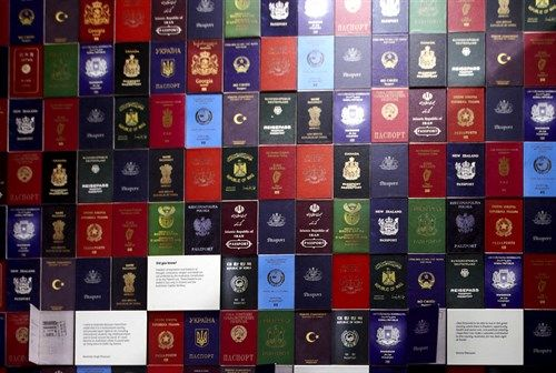 Front cover of different passports
