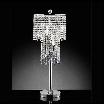 Warehouse of tiffany 3 light crystal table lamp wayfairhttp www wayfair