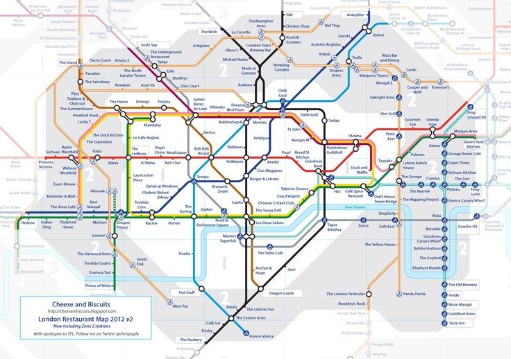 London restaurant Tube map!