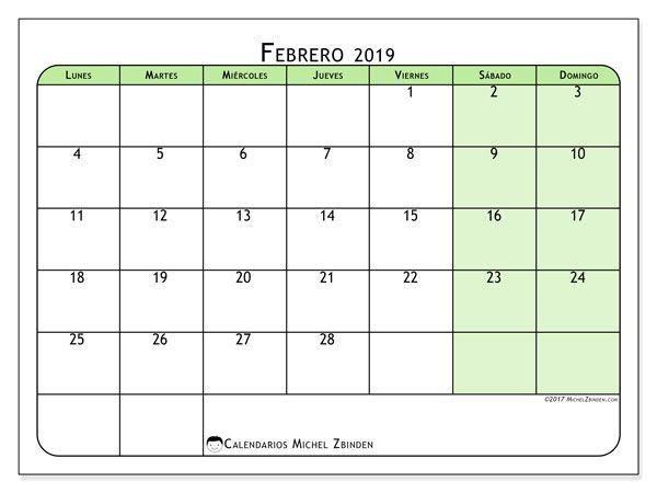 Calendario Febrero 2019 65ld Calendario Enero Calendario Para Imprimir Calendario Para Imprimir Gratis
