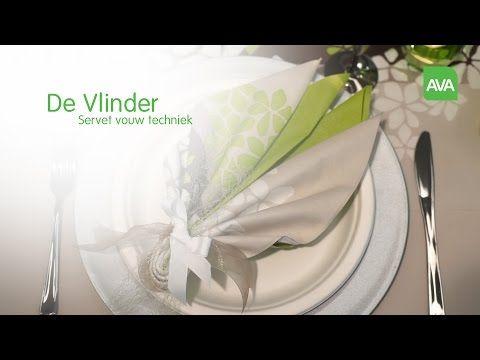 AVA servetten vouwen: De Vlinder - YouTube
