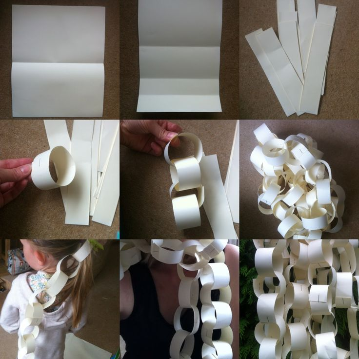 21 papercraft ideas How to make a paper chain