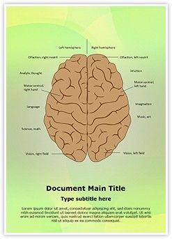 System Nervous Lateralization MS Word Template is one of the best MS Word Templates by EditableTemplates.com. #EditableTemplates #Intellectual #Motor #Health #Skill #Analysis #Diagram #Tissue #Cerebral #Nerve #Intellect #Function #Right #Left #Cortex #Synapse #Hemisphere #Anatomy #Cerebrum #System #Vision #Scientific #Brain #Lateralization #Medicine #Neurology #Olfaction #Sense #System Nervous Lateralization #Medical #Neuron #Anatomical